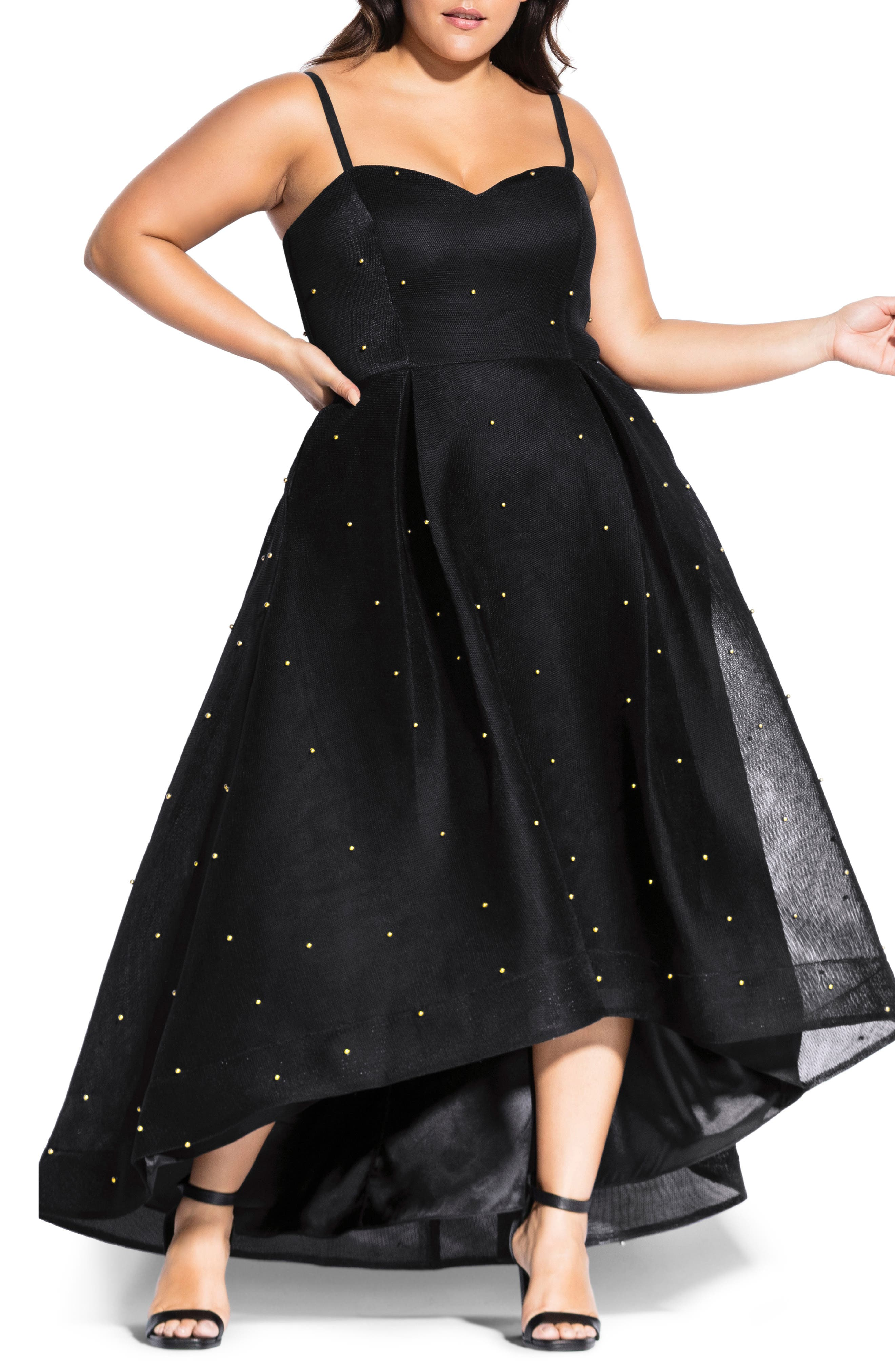 1950s Clothing Plus Size Womens City Chic Sweet Jewel Evening Dress Size X-Large - Black $219.00 AT vintagedancer.com