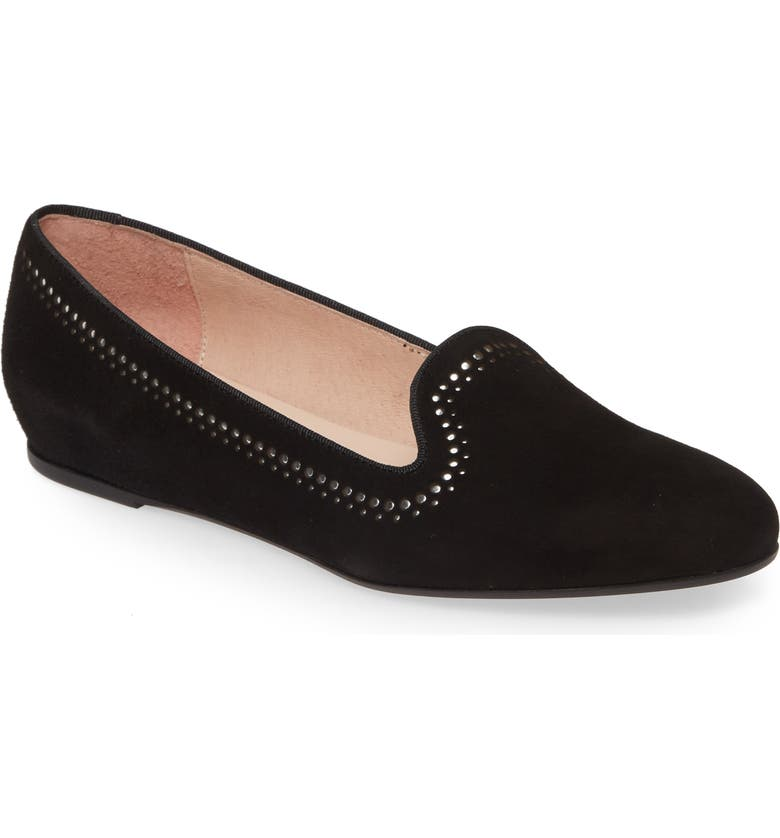 PATRICIA GREEN Isabel Flat, Main, color, BLACK SUEDE