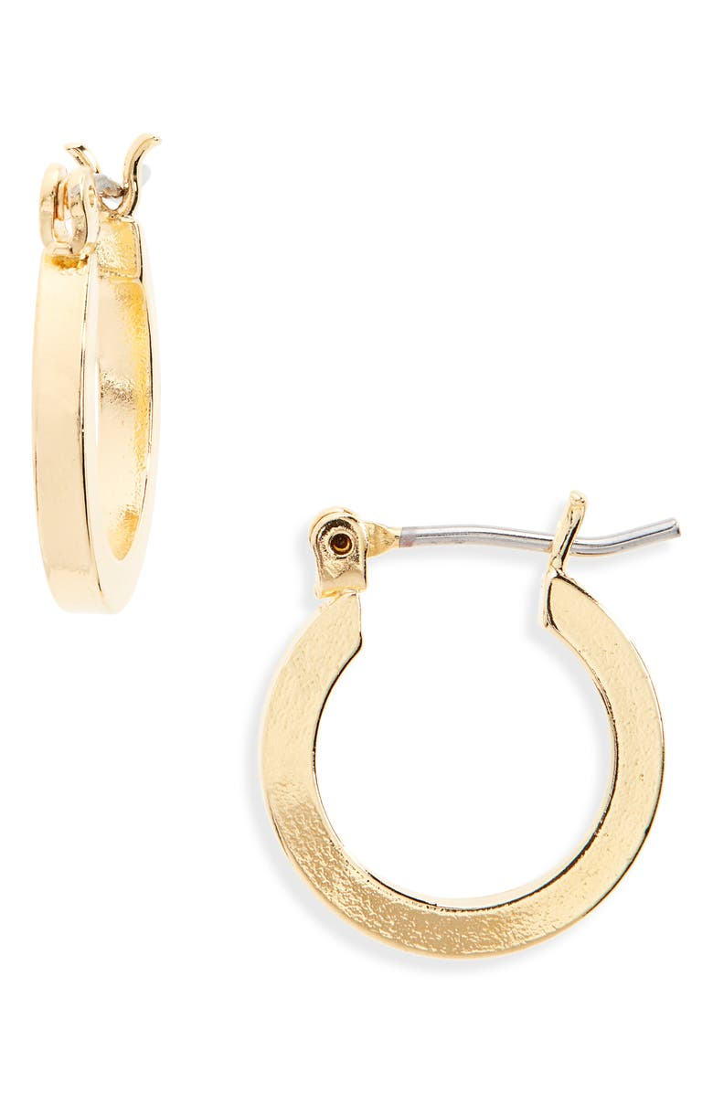 CAM Thick Small Hoops, Main, color, GOLD
