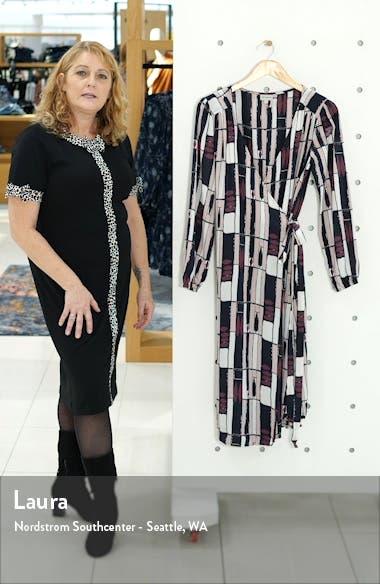 Eva Long Sleeve Print Wrap Dress, sales video thumbnail