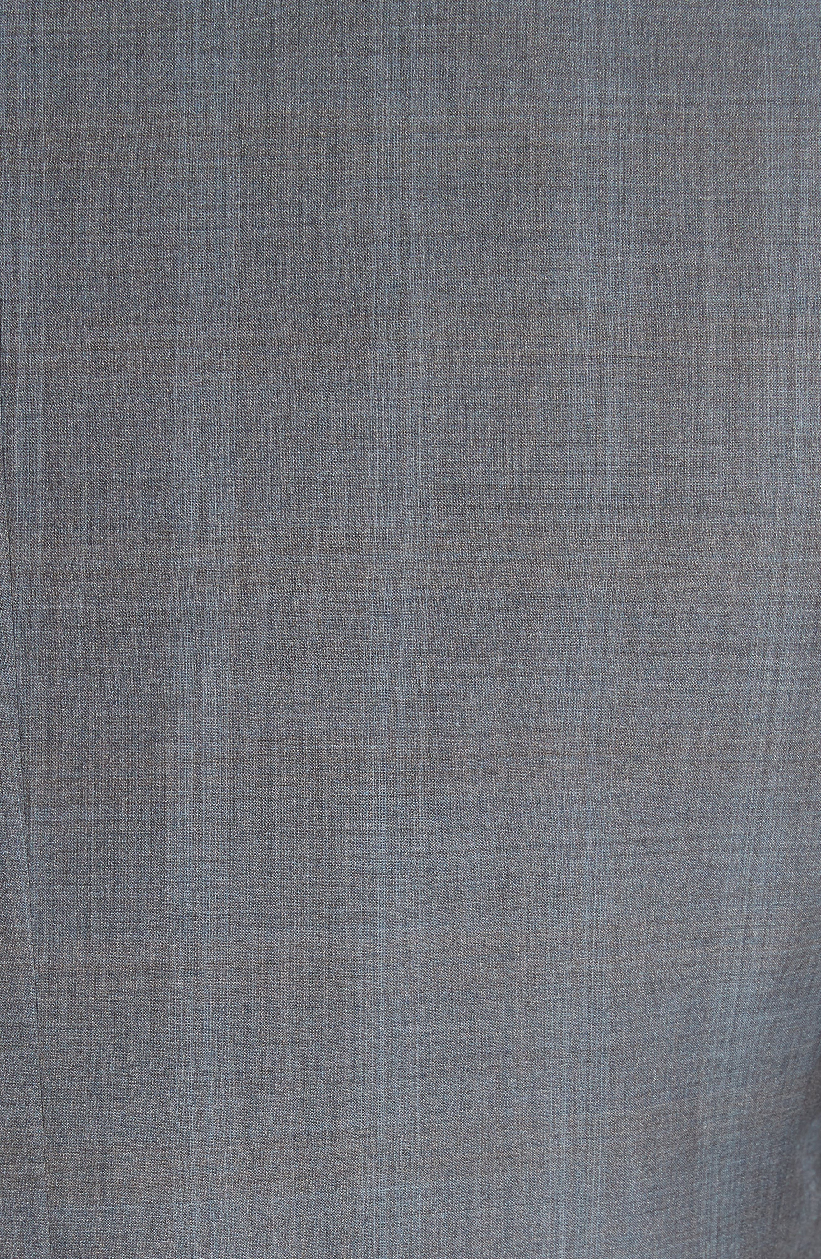 ,                             Classic Fit Plaid Wool & Silk Suit,                             Alternate thumbnail 7, color,                             GREY