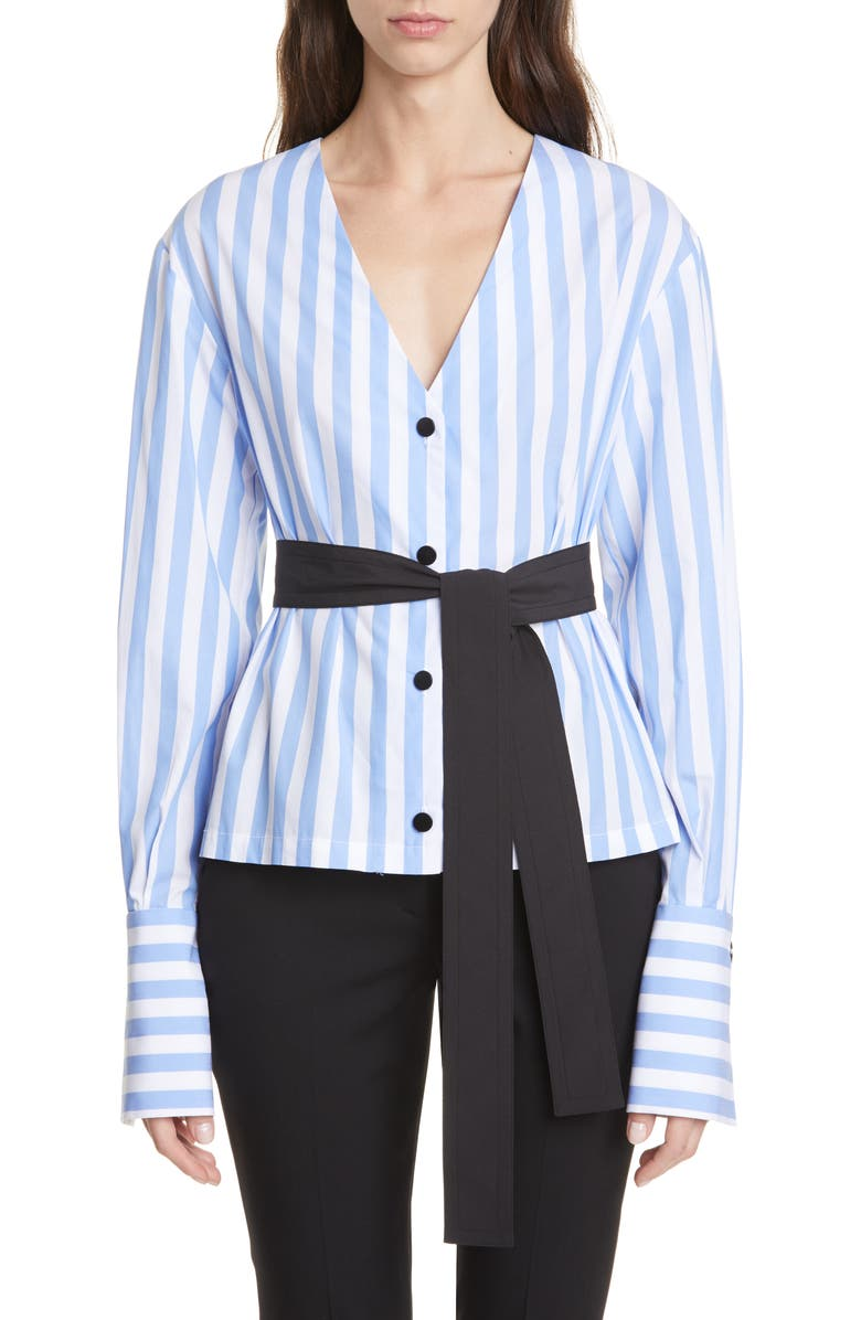 YIGAL AZROUËL Monostripe Shirt, Main, color, 400
