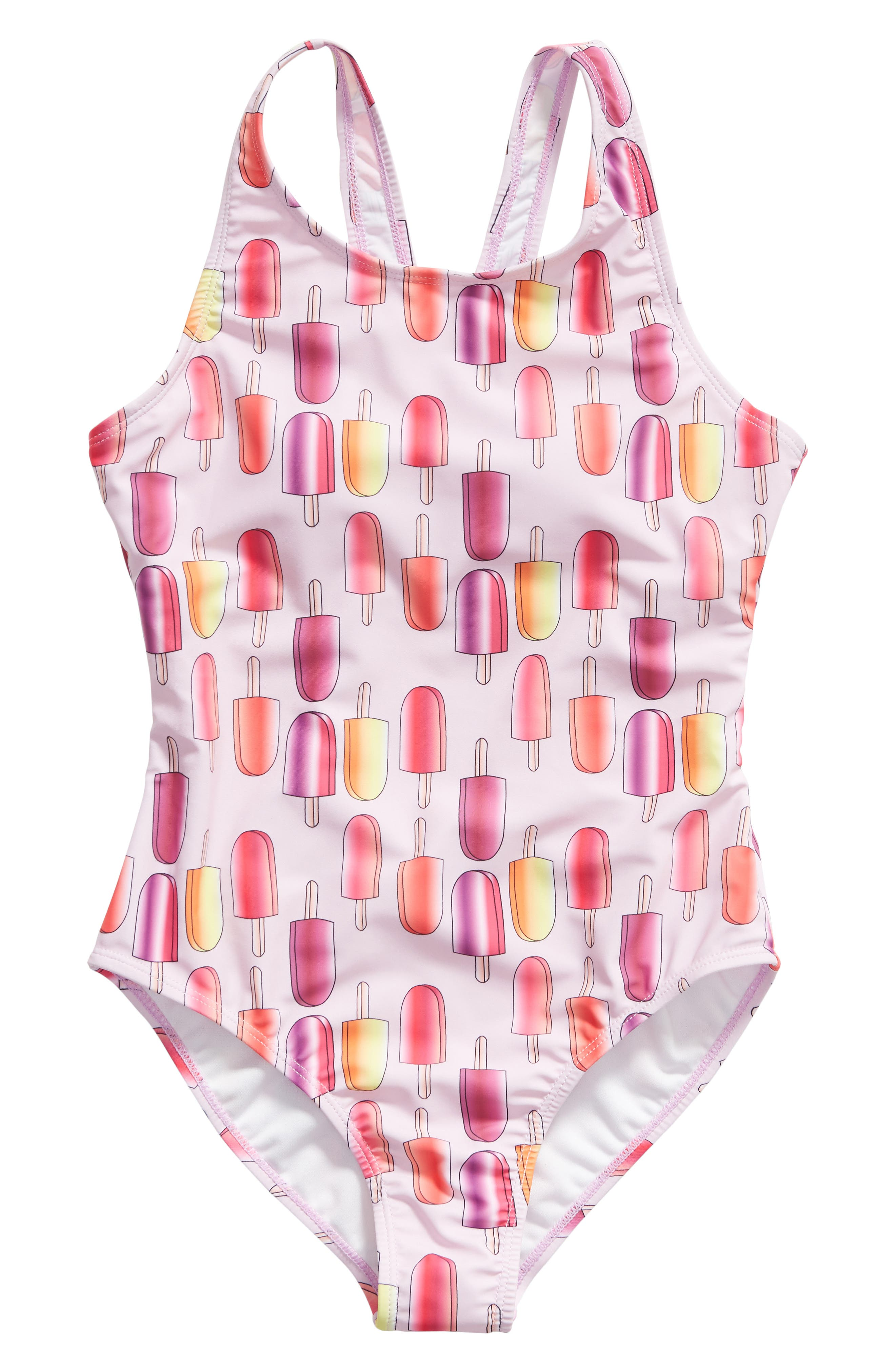 Girls Limeapple OnePiece Swimsuit Size 7  Pink