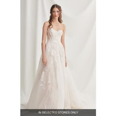 Willowby Harmony Strapless Lace & Tulle Wedding Dress