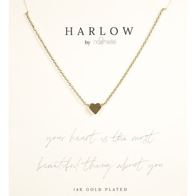 Harlow By Nashelle Simple Heart Boxed Necklace