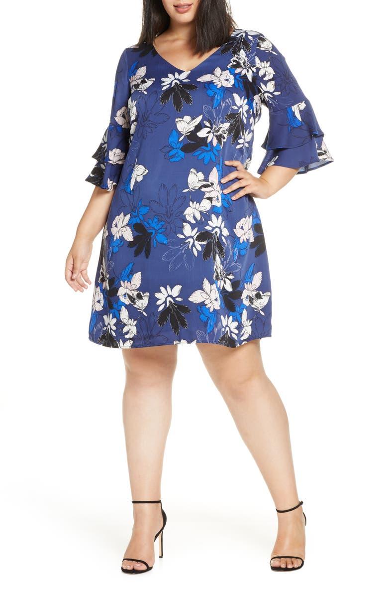 ESTELLE Floral Shift Dress, Main, color, PRINT