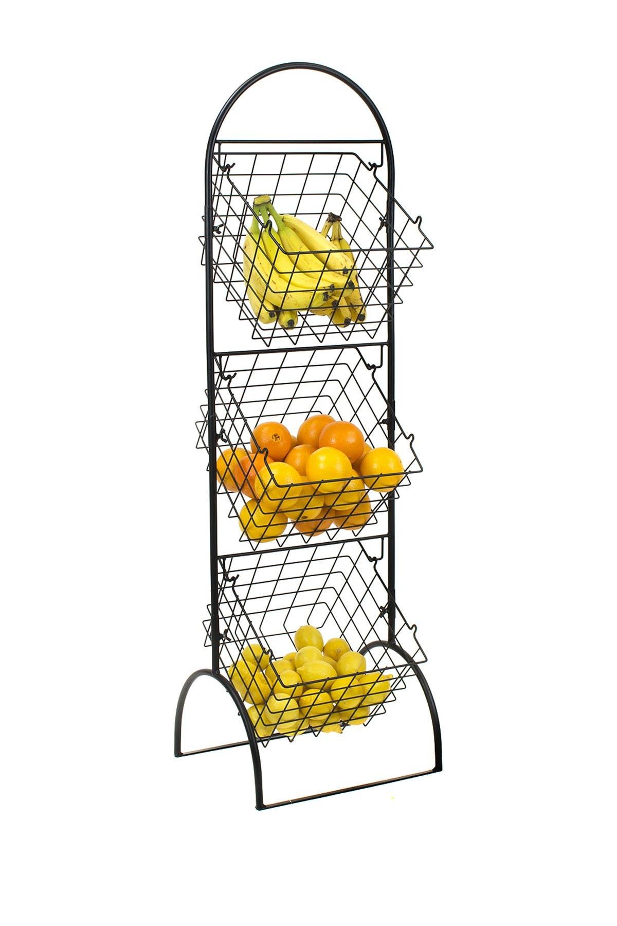 Sorbus Black 3 Tier Wire Market Storage Basket Nordstrom Rack