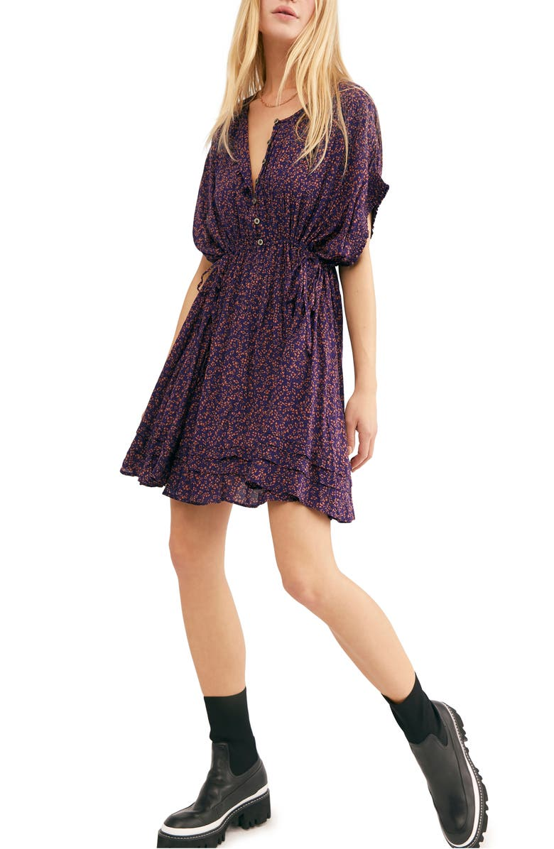 FREE PEOPLE One Fine Day Minidress, Main, color, MIDNIGHT COMBO