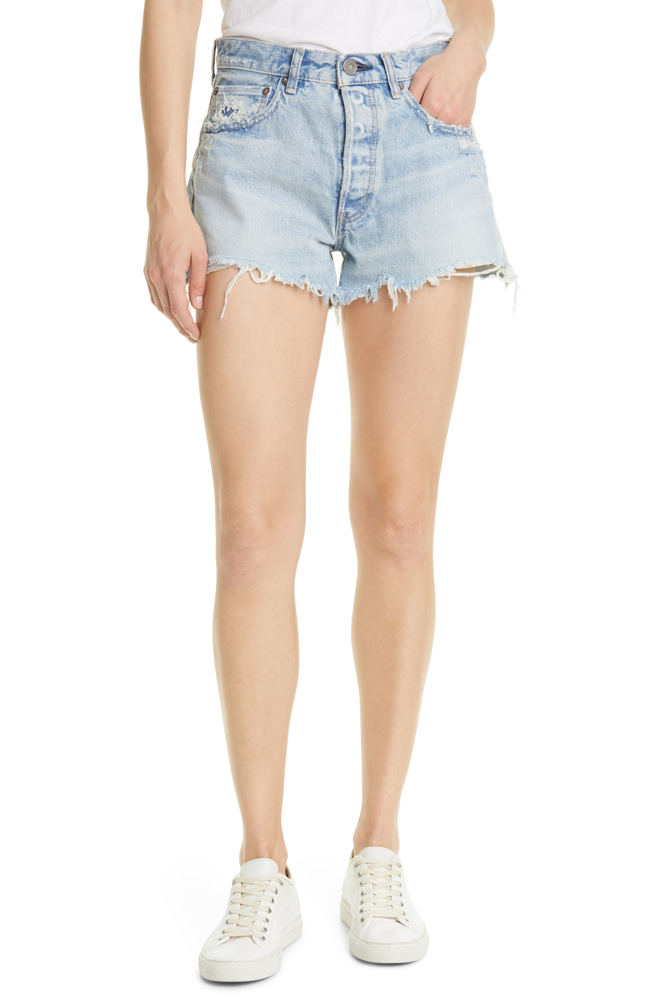 Etna Distressed Cutoff Denim Shorts