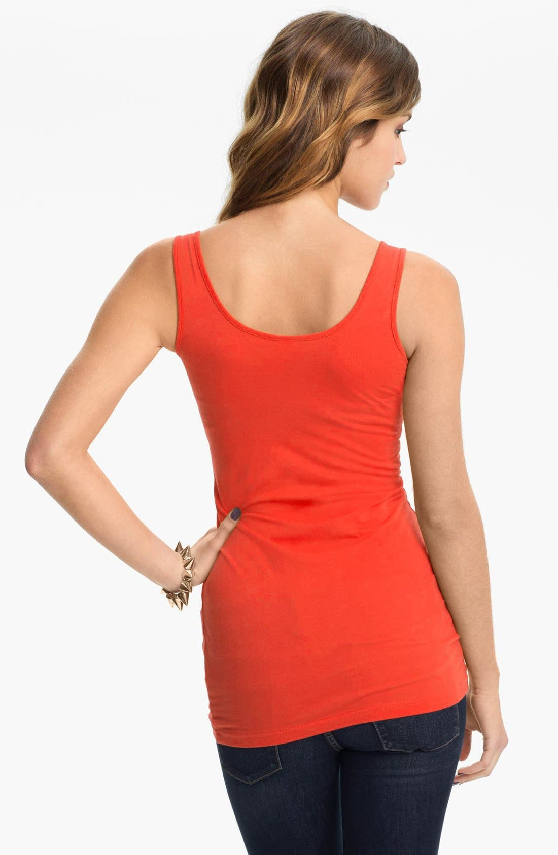 ,                             Double Scoop Neck Tank,                             Alternate thumbnail 334, color,                             822