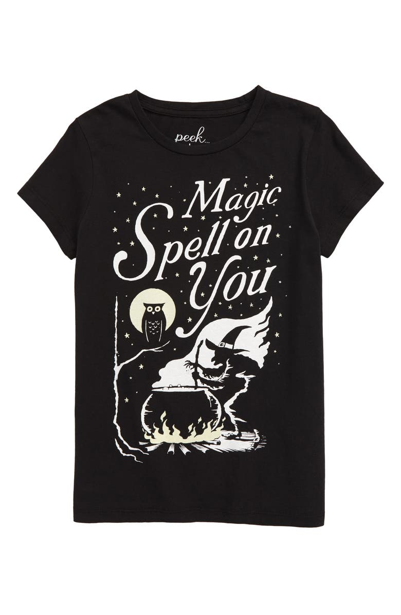 PEEK AREN'T YOU CURIOUS Spell on You Tee, Main, color, 001