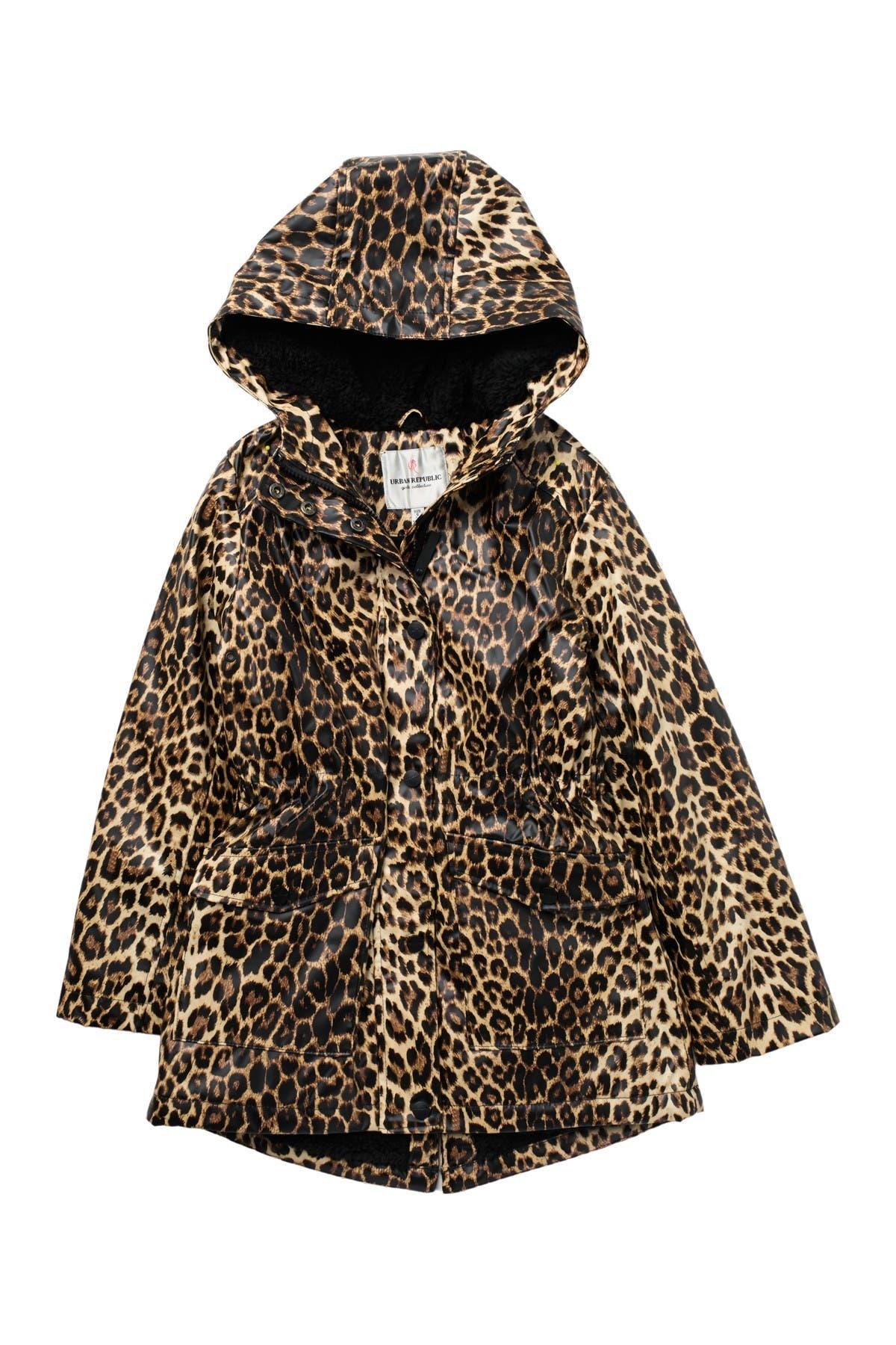 Image of Urban Republic Fleece Lined Raincoat Anorak Jacket