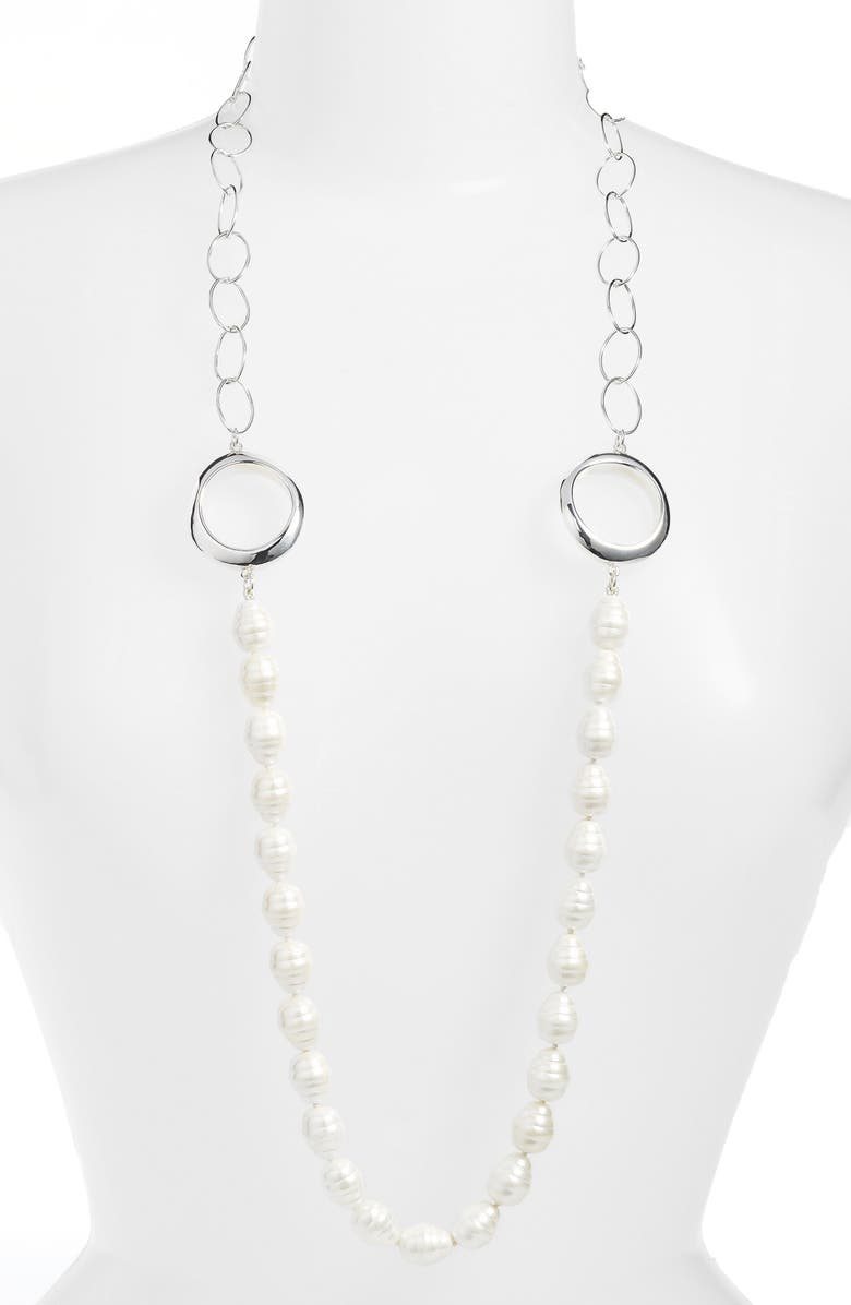 SIMON SEBBAG Long Imitation Pearl Necklace, Main, color, 900