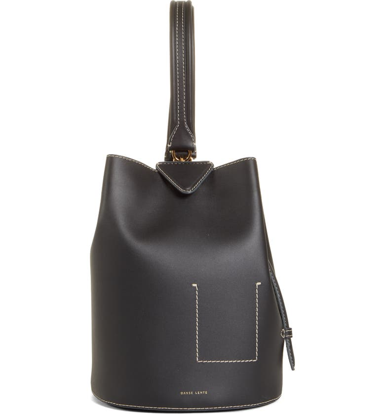 DANSE LENTE Jamie Leather Backpack, Main, color, 001