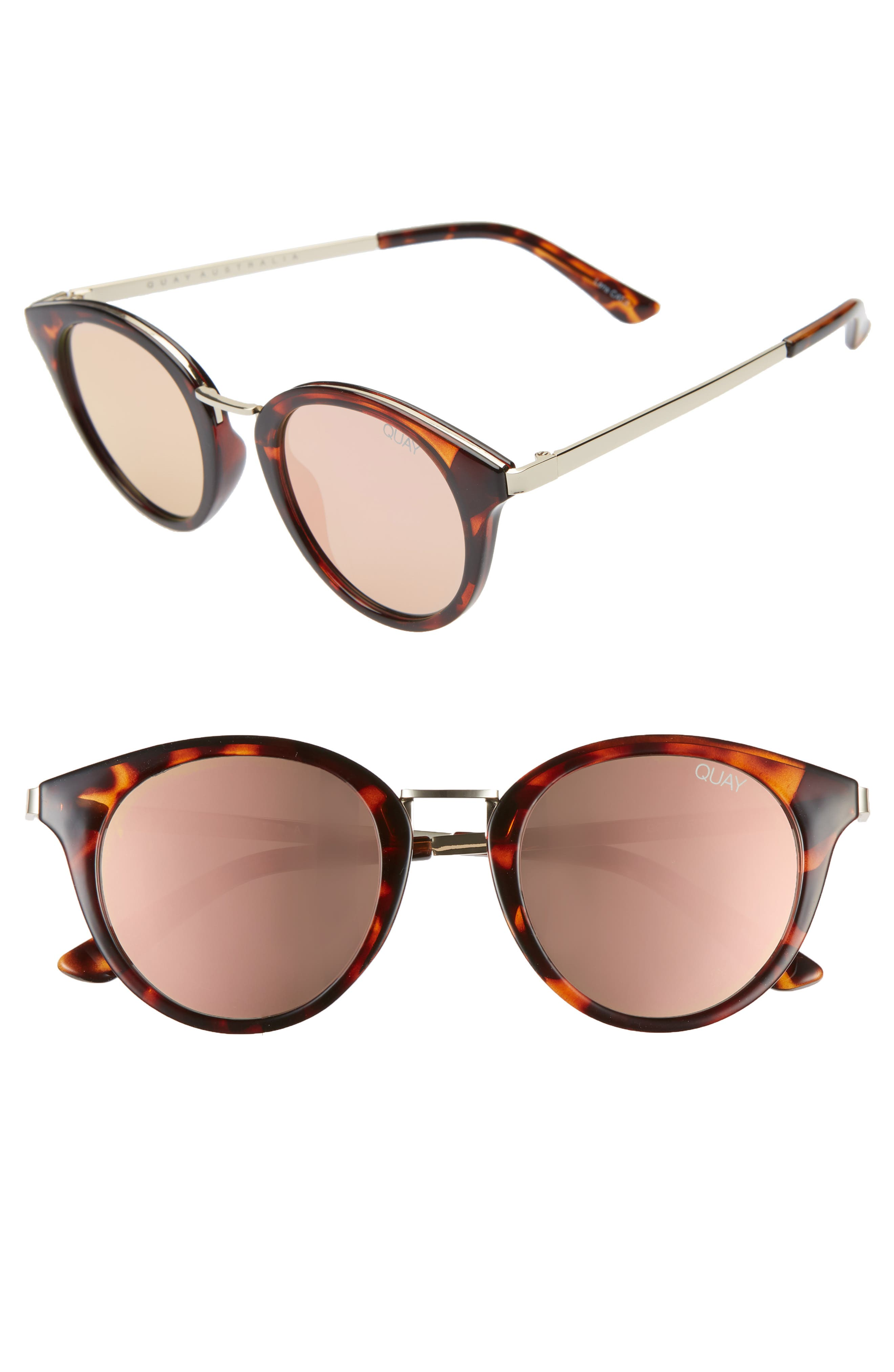 Quay Australia Gotta Run 4m Sunglasses - Tortoise/ Rose