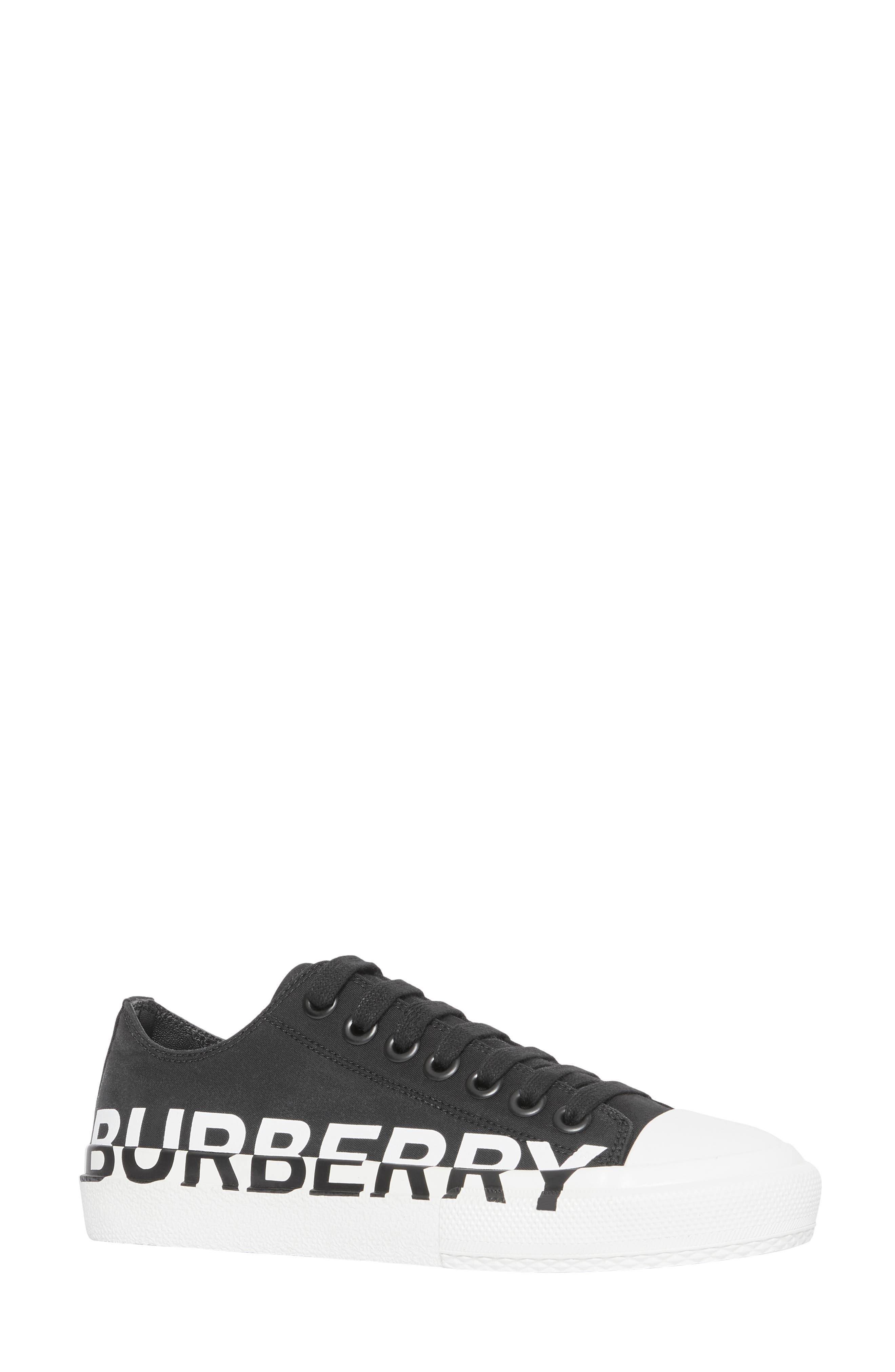 Burberry Larkhall Graphic Logo Sneaker - Black