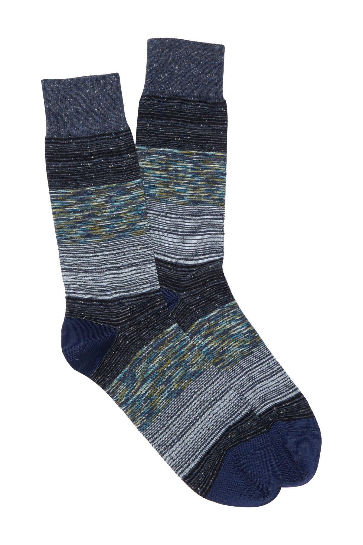 Image of Bugatchi Striped Mid Calf Socks