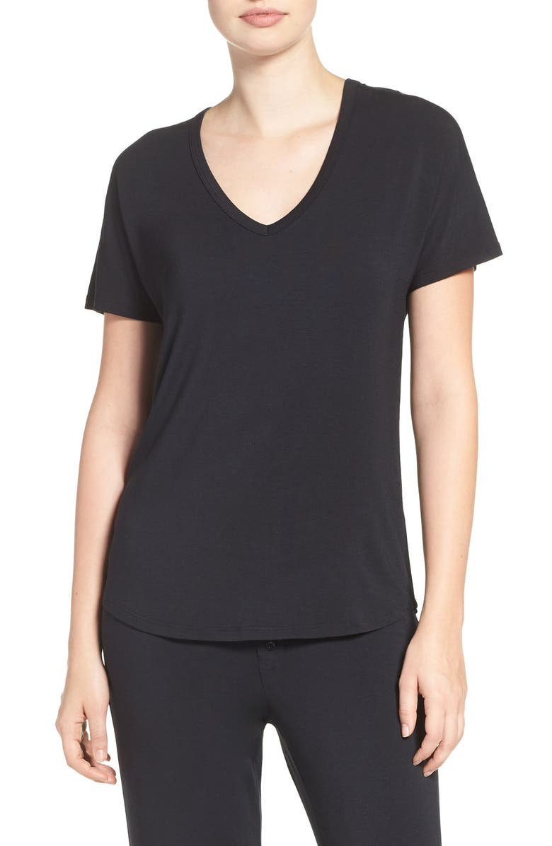 PJ SALVAGE Short Sleeve Tee, Main, color, BLACK