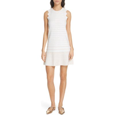 Ted Baker London Relioa Metallic Jacquard Knit Dress, Ivory