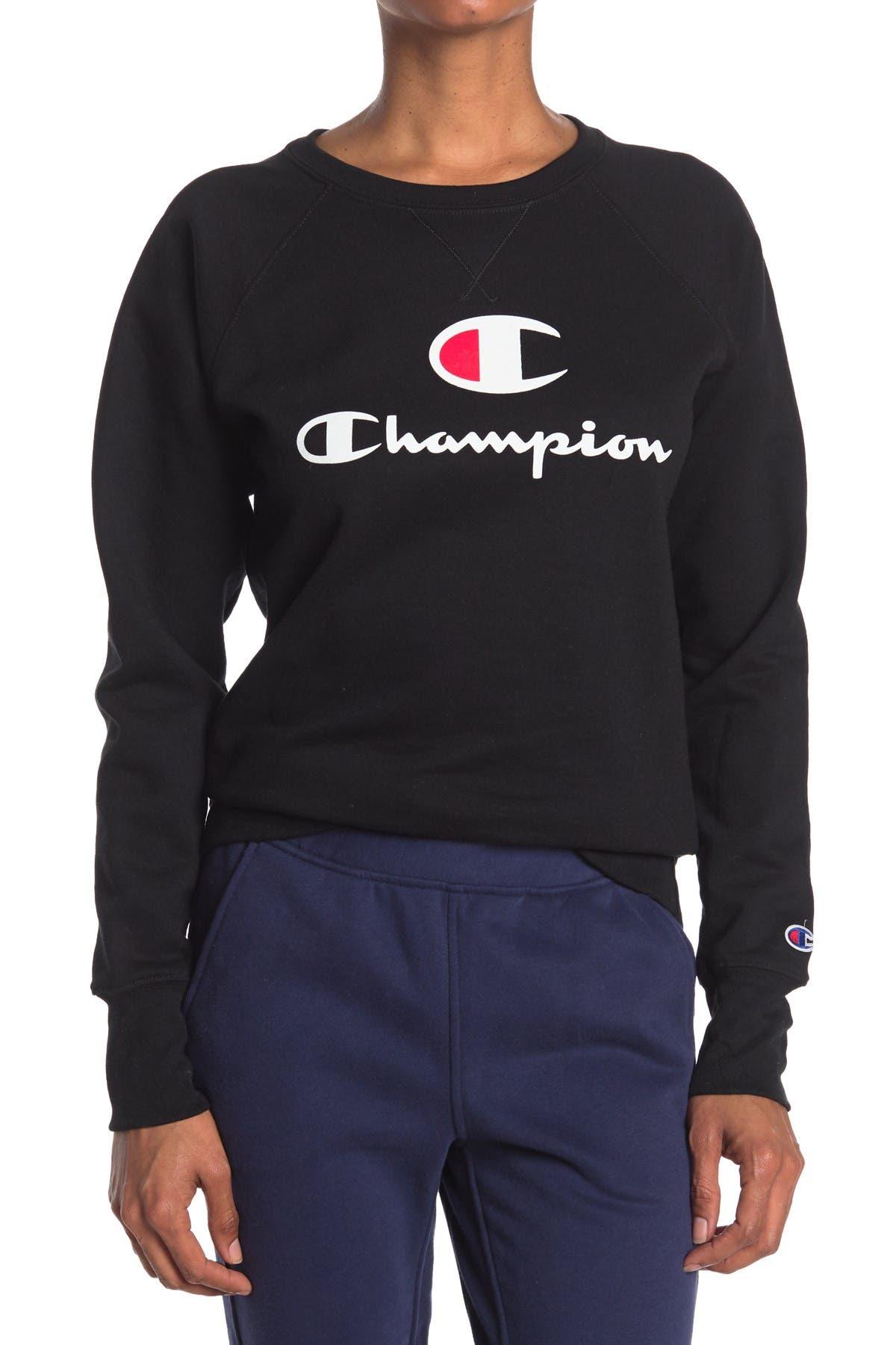 Image of Champion Powerblend Logo Raglan Sweatshirt