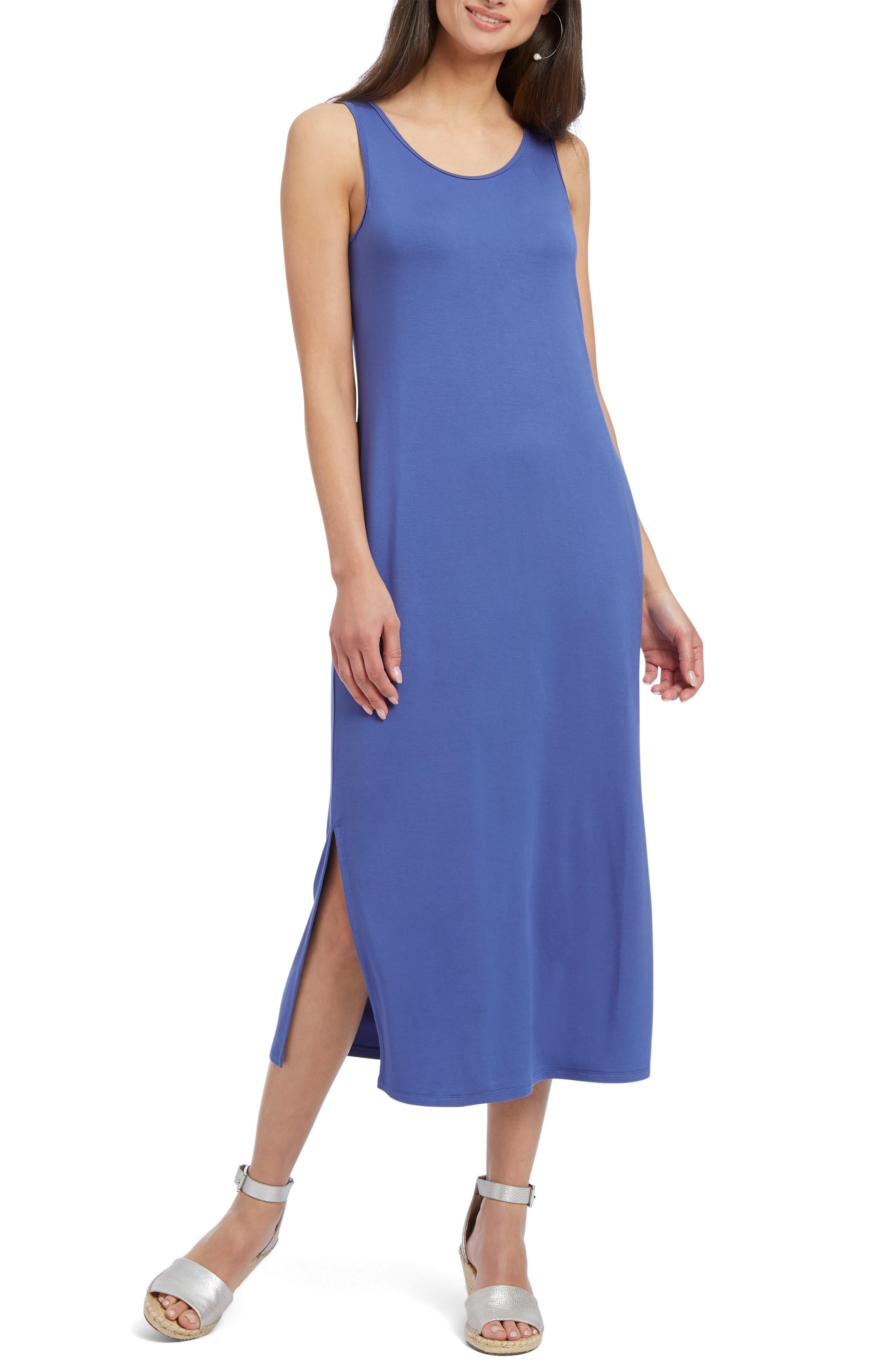 Nic+Zoe Ease & Comfort Sleeveless Maxi Dress, Blue