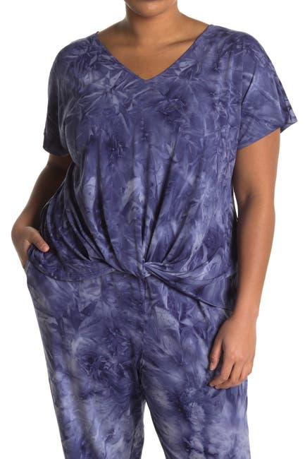 Image of TUA Tie Dye Twisted Hem T-Shirt