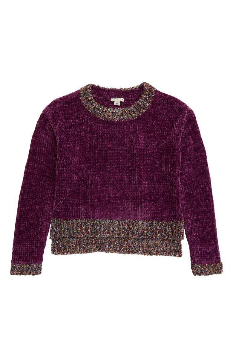 HABITUAL Cassidy Metallic Chenille Sweater, Main, color, 500