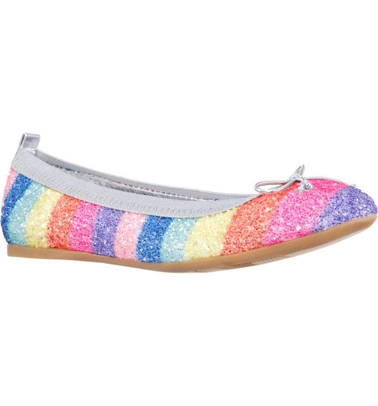 NINA Esther Ballet Flat, Main, color, RAINBOW CHUNKY GLITTER
