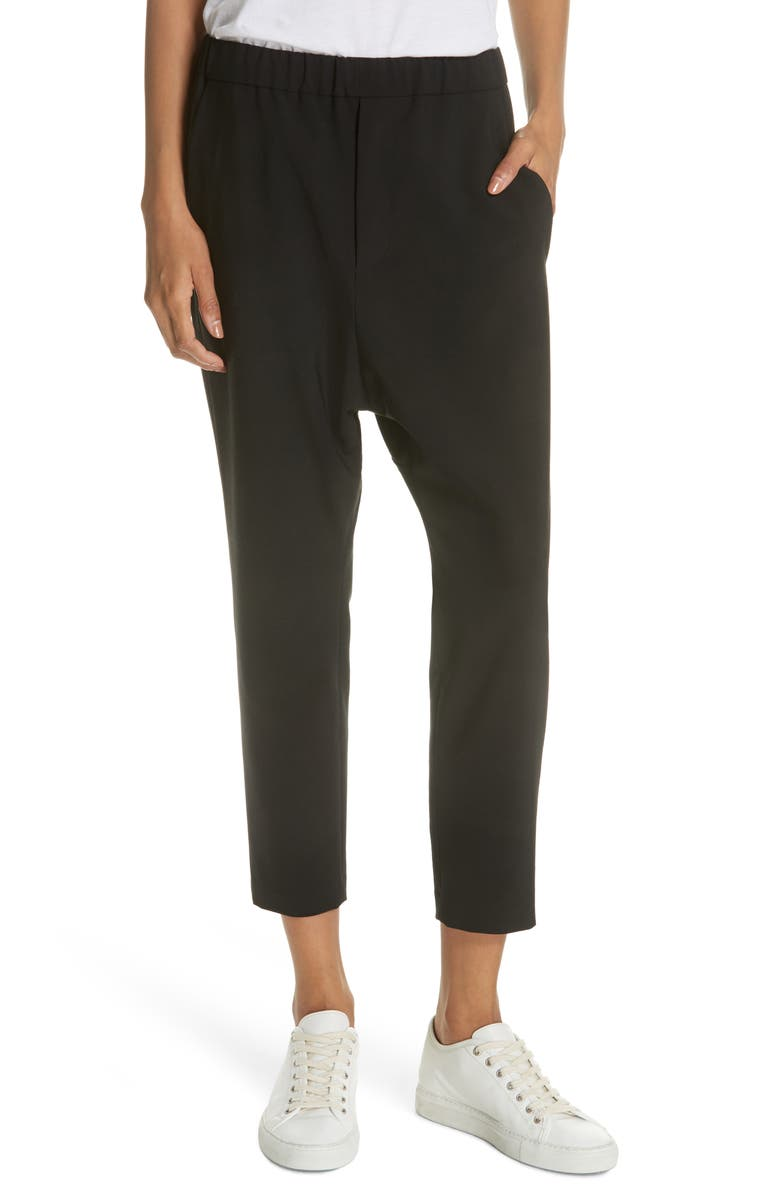 NILI LOTAN Delancy Crop Pants, Main, color, BLACK