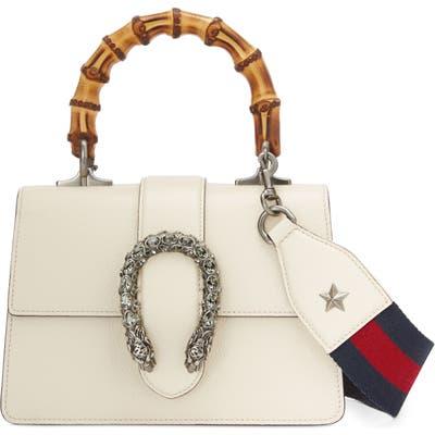 Gucci Mini Dionysus Leather Top Handle Satchel - Ivory