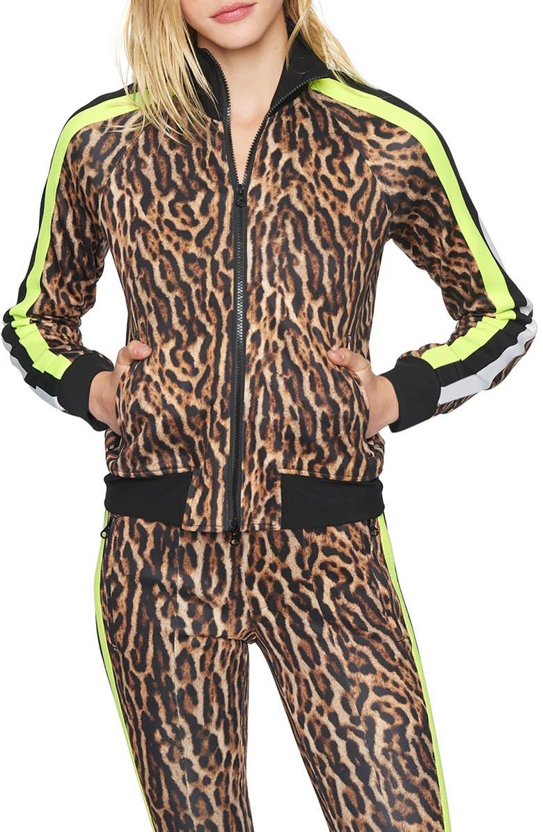 PAM & GELA Ocelot Track Jacket, Main, color, NATURAL
