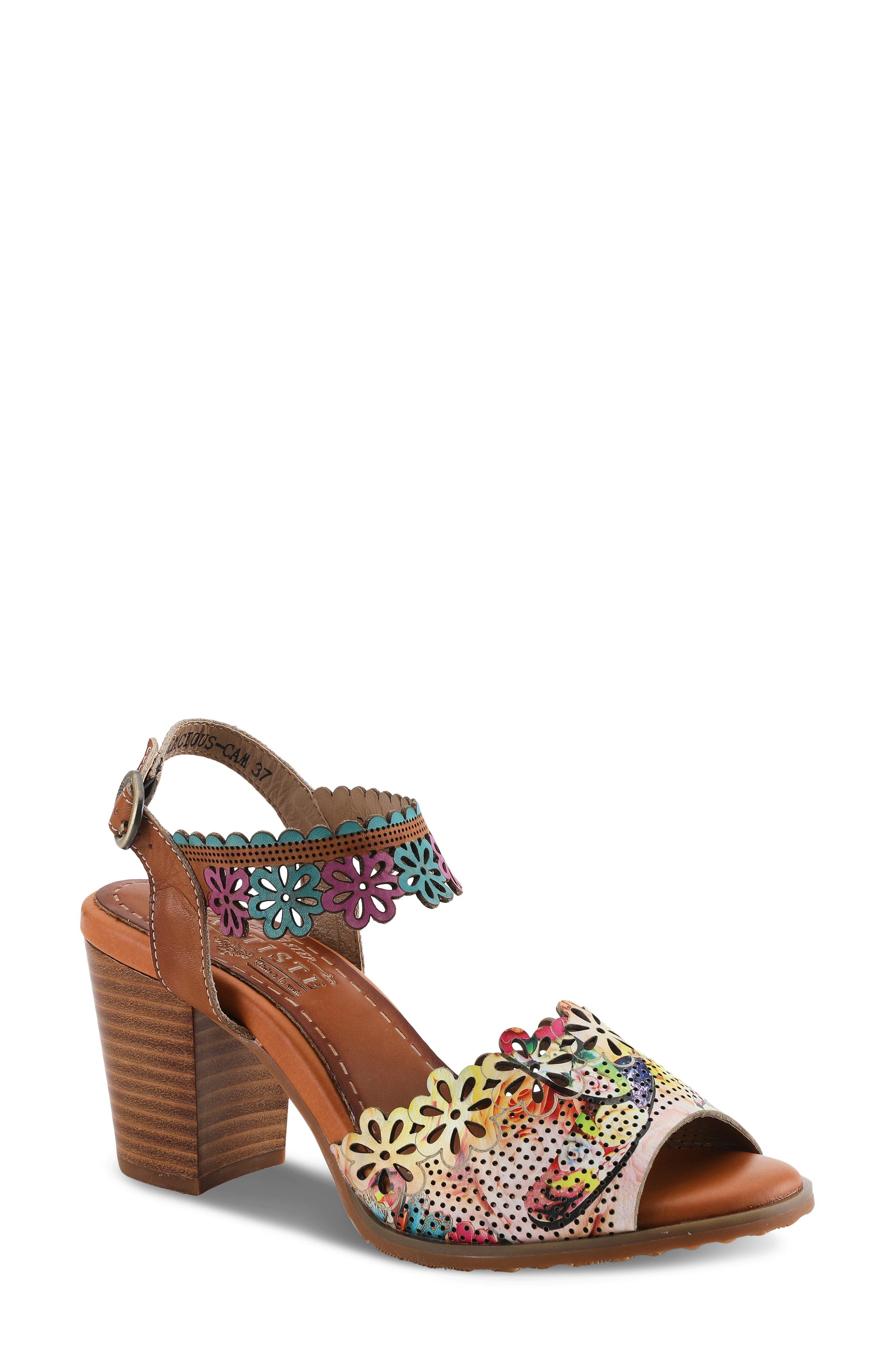 Floradacious Ankle Strap Sandal