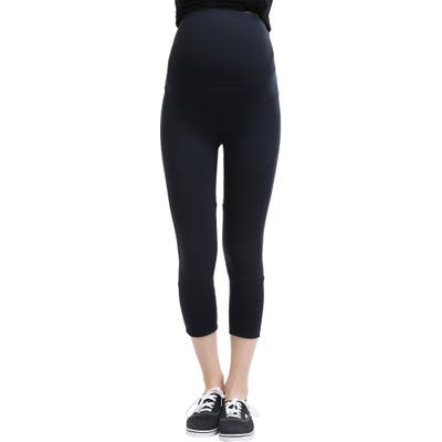 Kimi And Kai Elle High Performance Cropped Maternity Leggings, Black