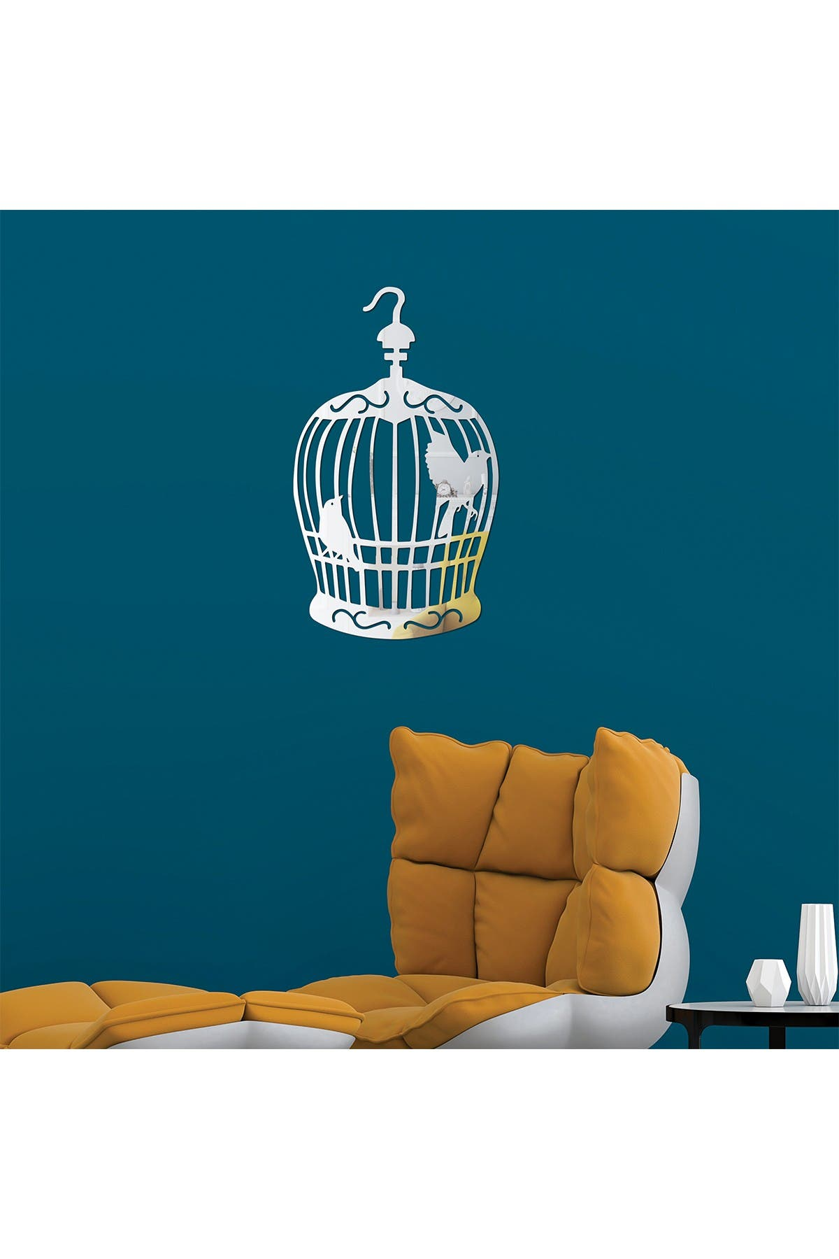 Image of WalPlus Birdcage Mirror Wall Art