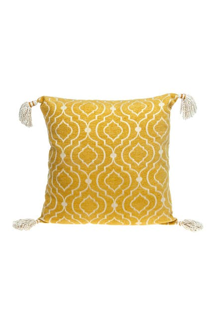 Image of Parkland Collection Delilah Transitional Yellow Throw Pillow