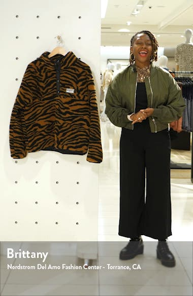 Juju Tiger Print Fleece Jacket, sales video thumbnail
