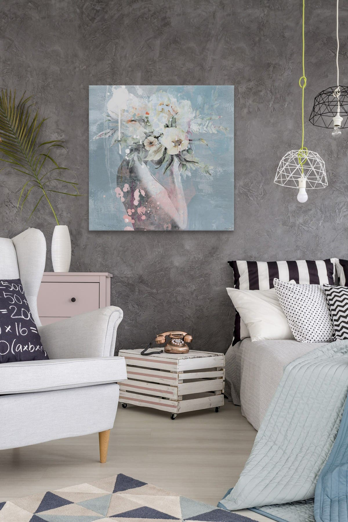 Marmont Hill Inc Cover In Flowers Wall Art Nordstrom Rack