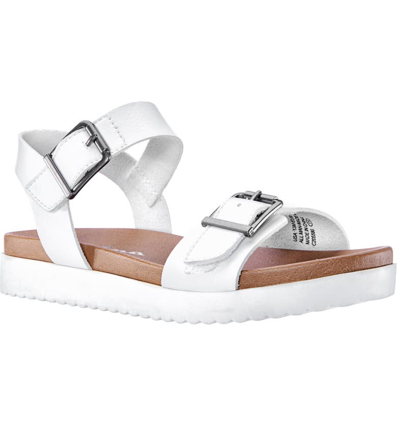 NINA Jacklin3 Quarter Strap Sandal, Main, color, WHITE TUMBLE