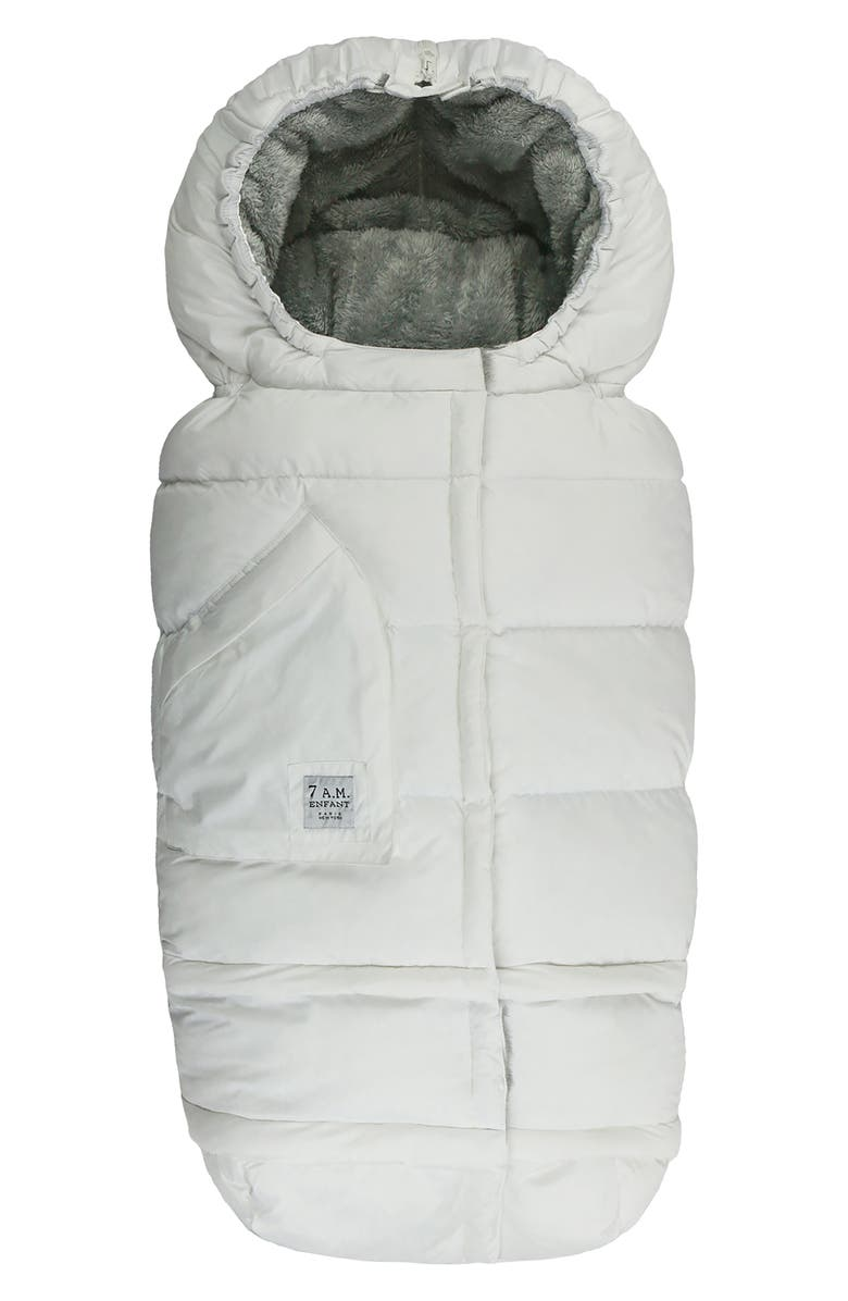 7 A.M. ENFANT Blanket '212 evolution<sup>®</sup>' Extendable Stroller & Car Seat Footmuff, Main, color, WHITE