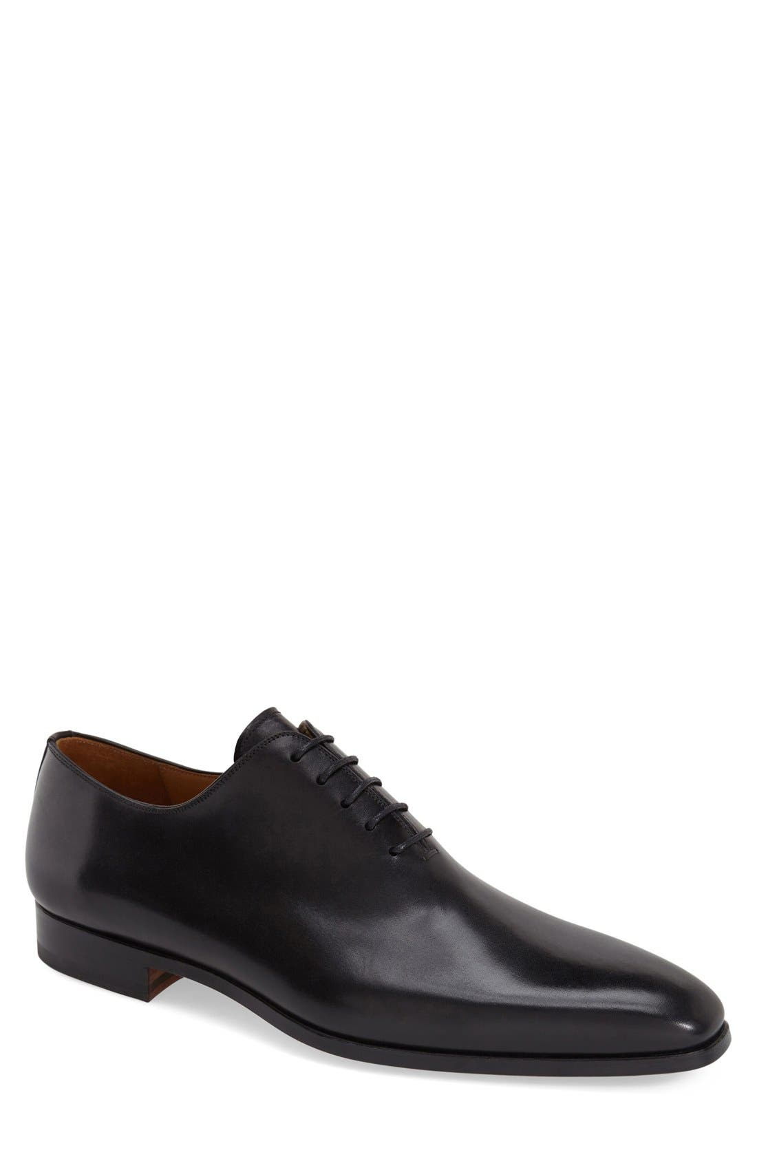 'Cruz' Plain Toe Oxford, Main, color, BLACK