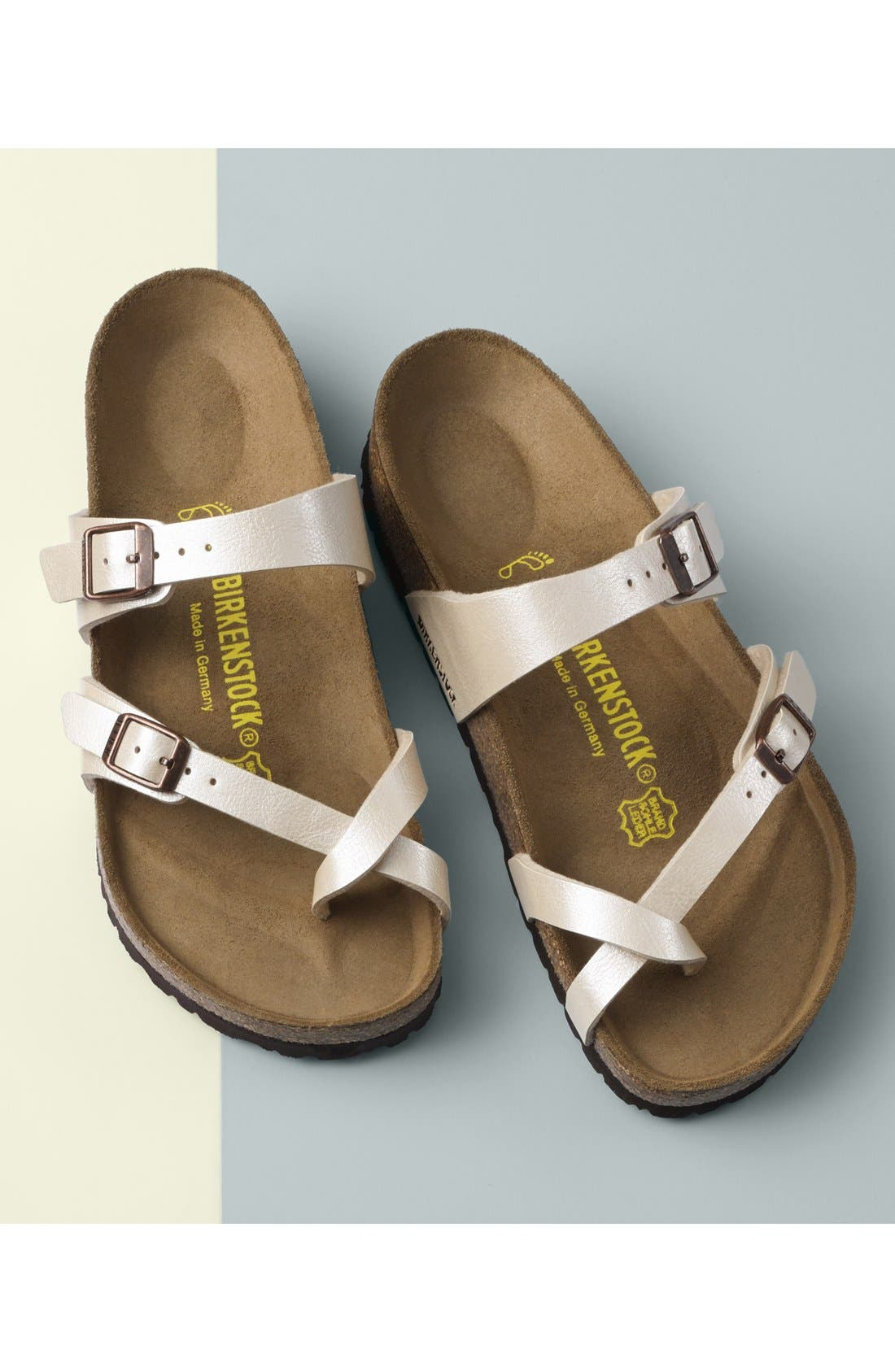 ,                             'Mayari' Birko-Flor<sup>™</sup> Sandal,                             Alternate thumbnail 7, color,                             SILVER
