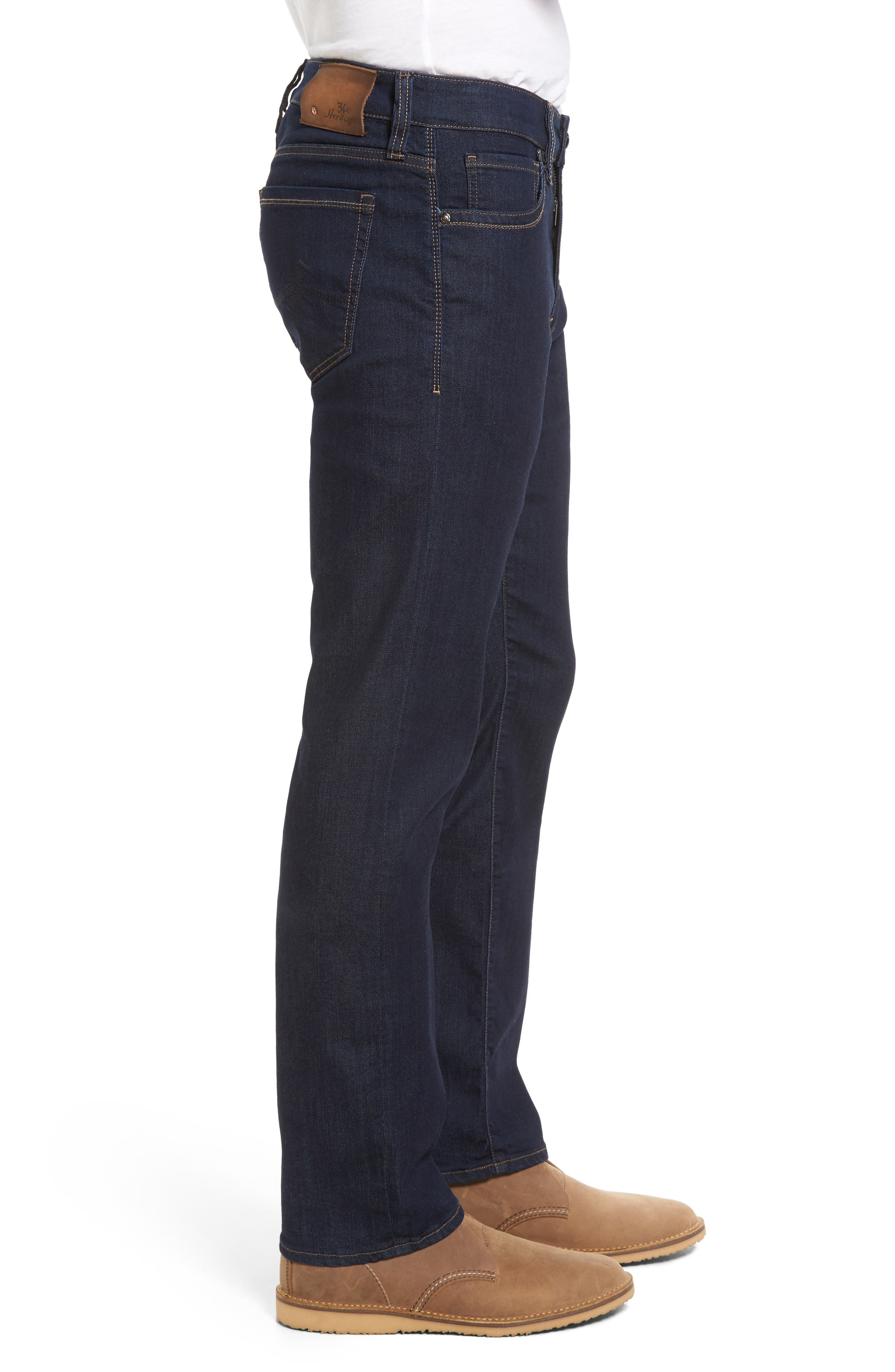 ,                             Courage Straight Leg Jeans,                             Alternate thumbnail 4, color,                             RINSE VINTAGE