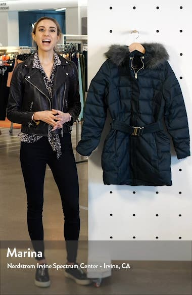 Waylite Quilted Hooded Puffer Coat with Faux Fur Trim, sales video thumbnail