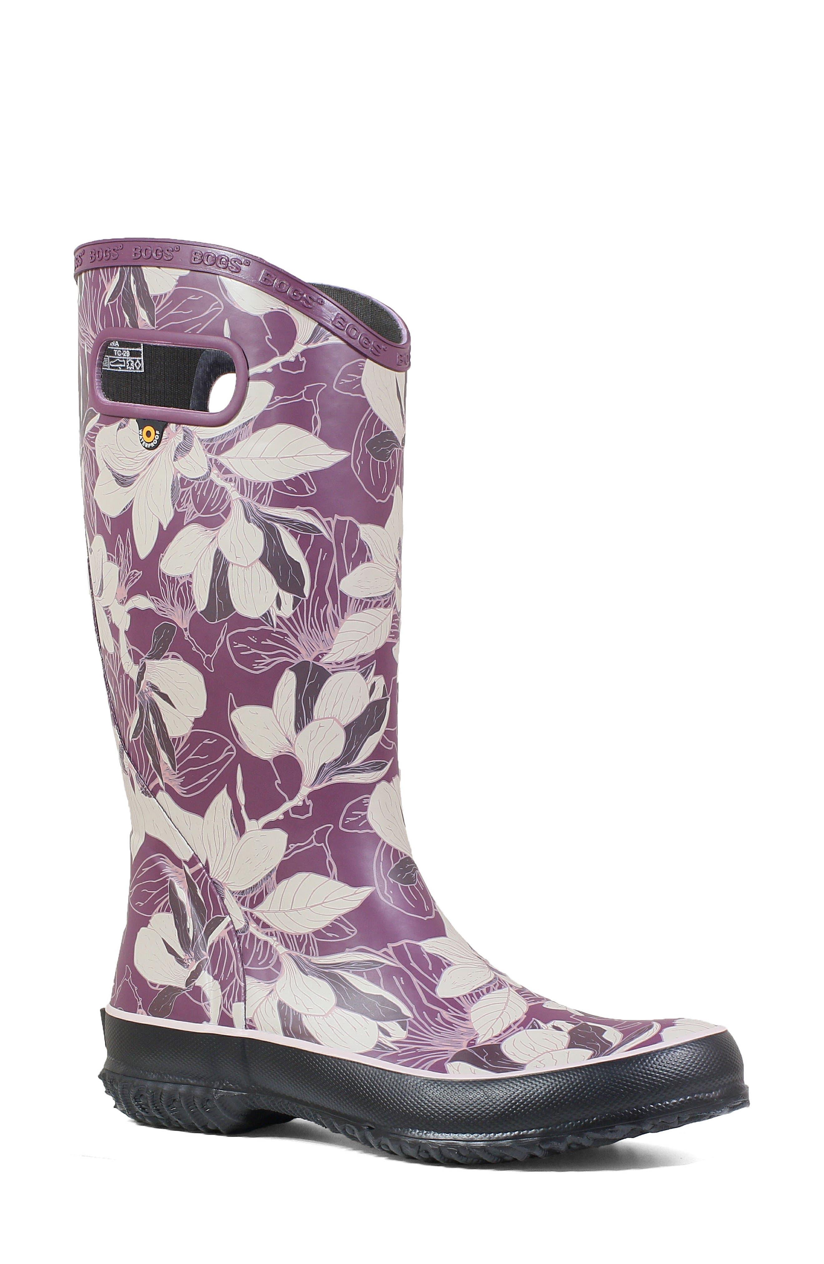 Bogs Classic Tall Waterproof Rain Boot, Purple