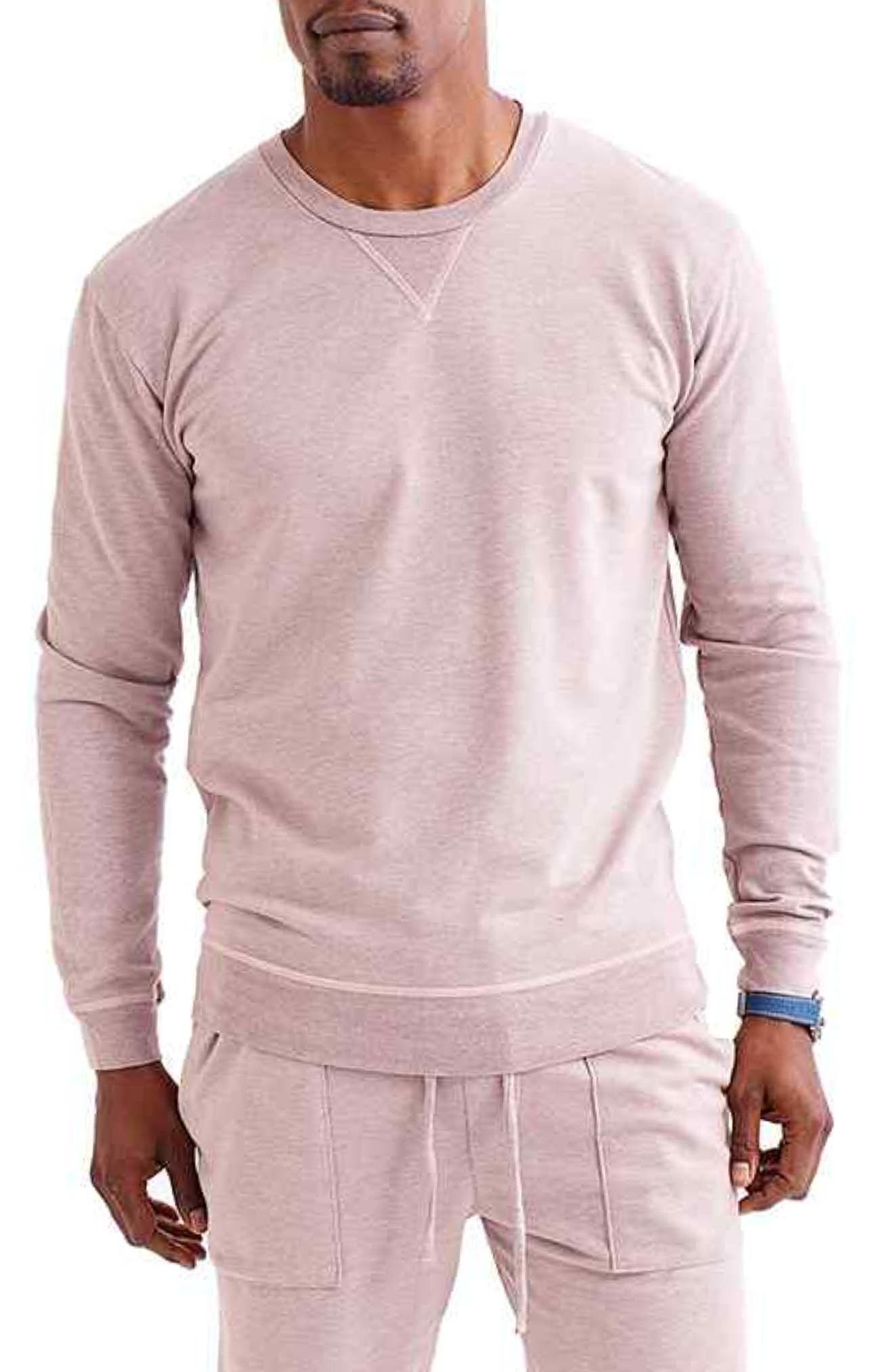 Men's Slim Micro Terry Crewneck Sweatshirt