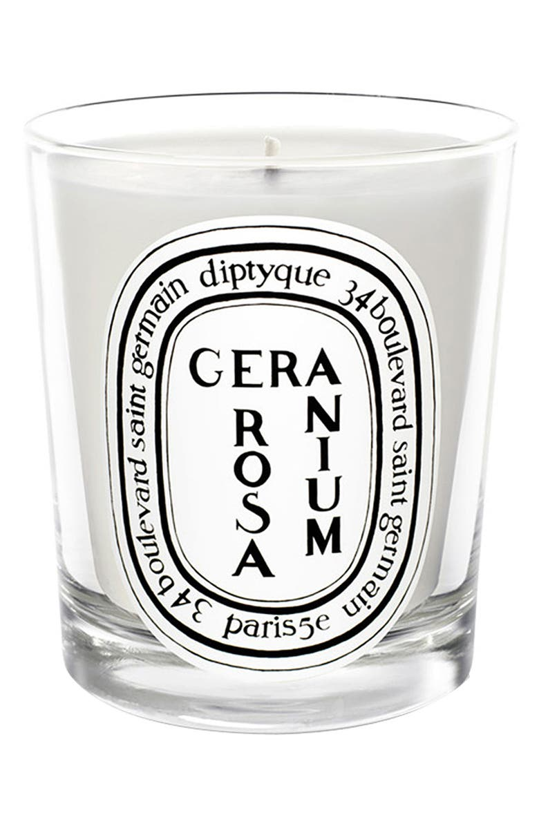 DIPTYQUE Geranium Rosa/Rose Geranium Scented Candle, Main, color, NO COLOR