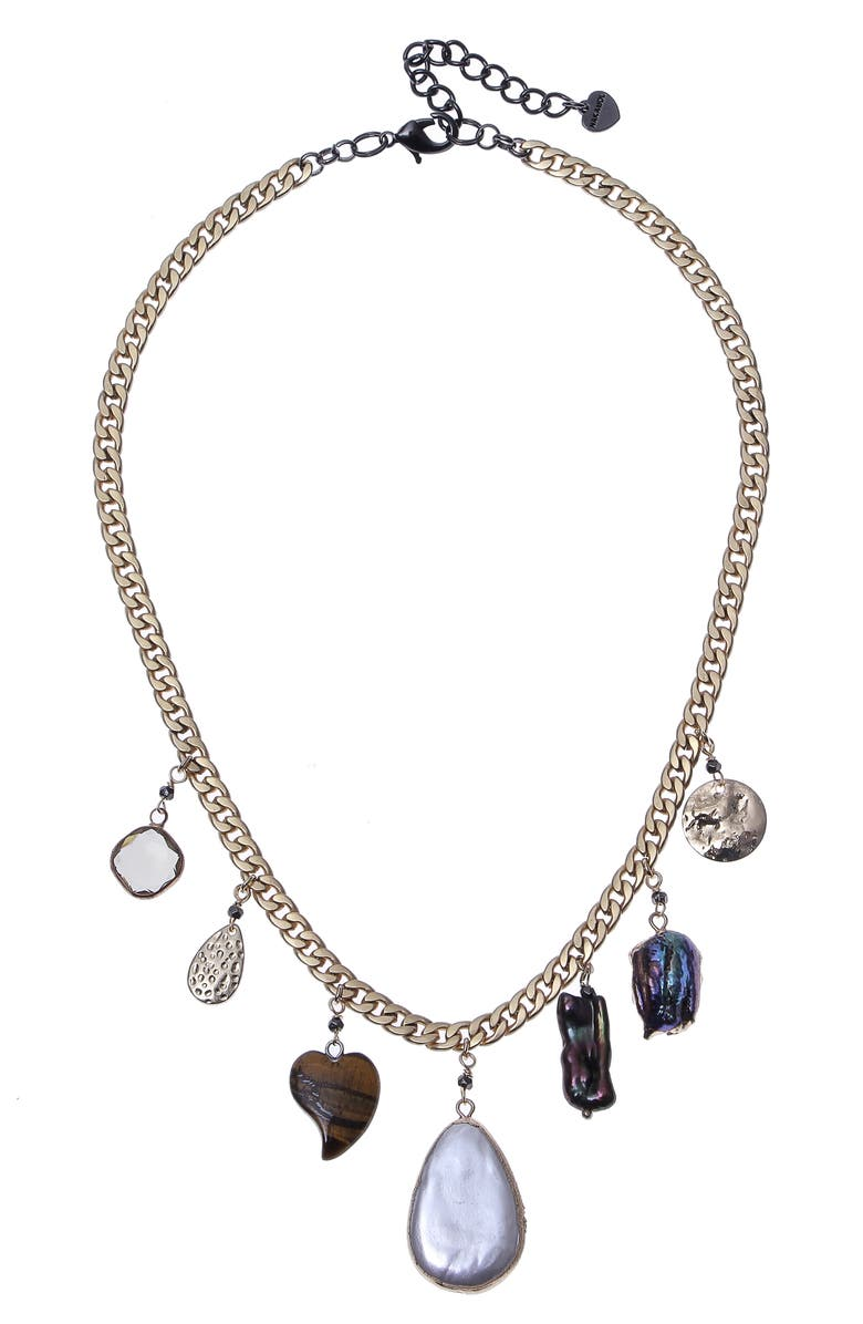 NAKAMOL CHICAGO Pendant Necklace, Main, color, MIX PEARL GOLD