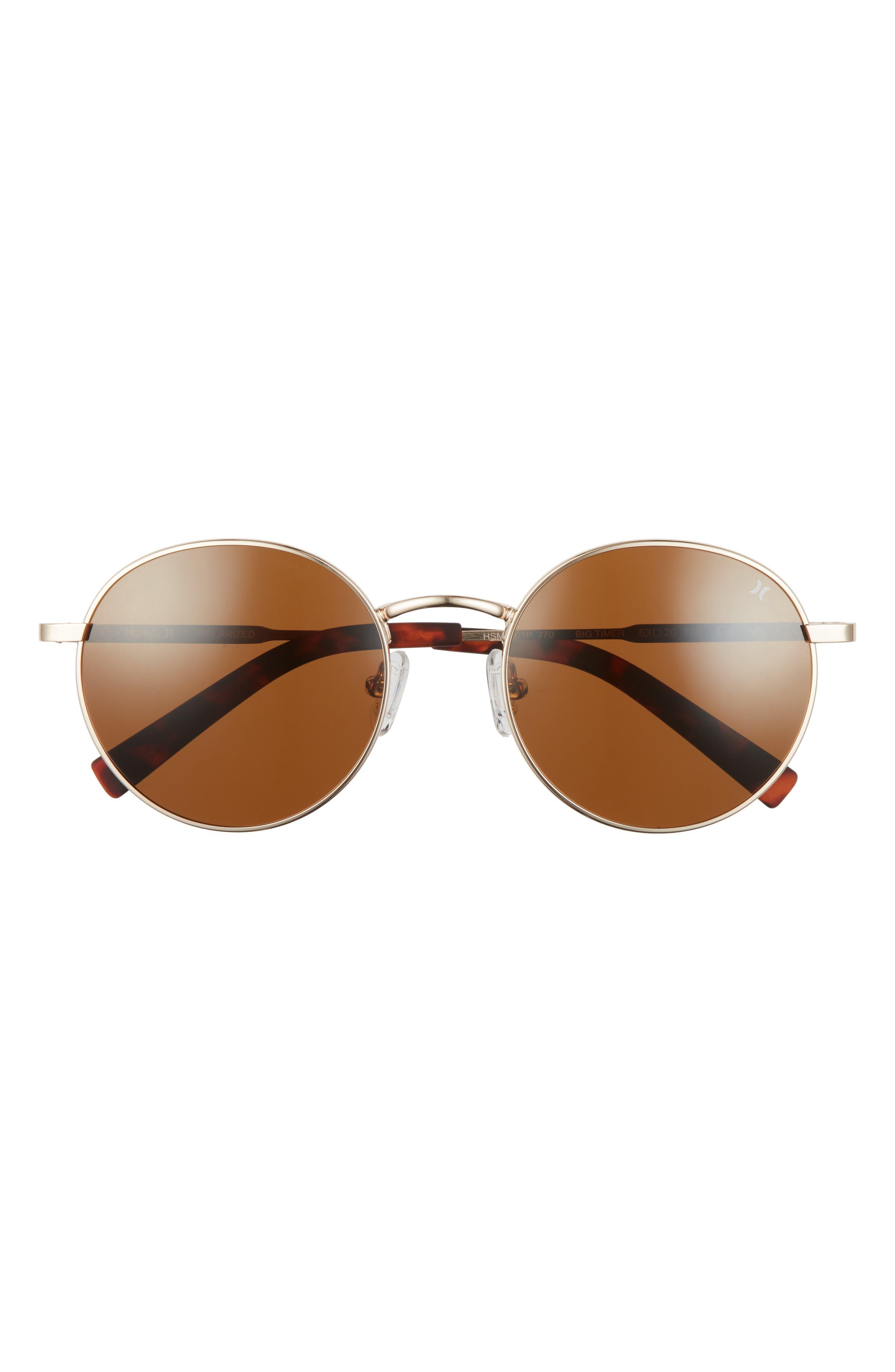 Big Timer 53mm Polarized Round Sunglasses