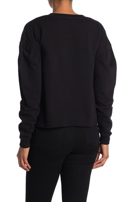 Image of Velvet Heart Janel Embroidered Puff Sleeve Pullover
