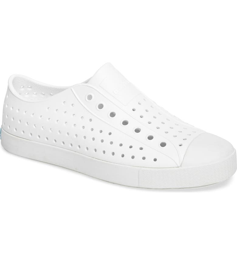 NATIVE SHOES 'Jefferson' Slip-On, Main, color, SHELL WHITE SOLID